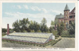 Greenhouse and garden, Immanuel Deaconess Institute, Omaha, Nebraska
