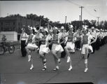 Baton twirlers in a parade