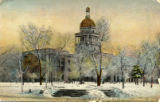 State Capitol in winter, Lincoln, Neb.